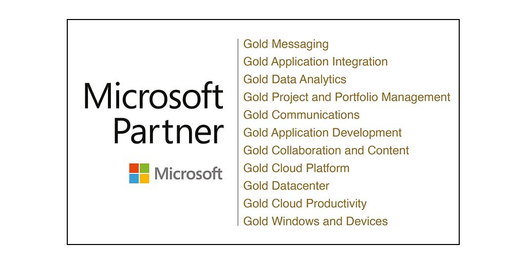 Logo Microsoft Gold Partner 11 Kompetenzen